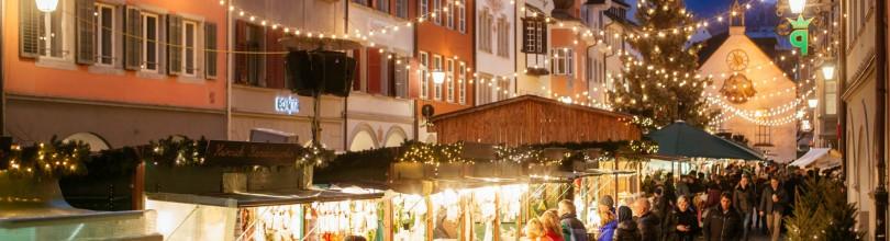 Feldkirch, 21.12.2015 Weihnachtsmarkt, Lebkuchenhaus, Krippenmuseum